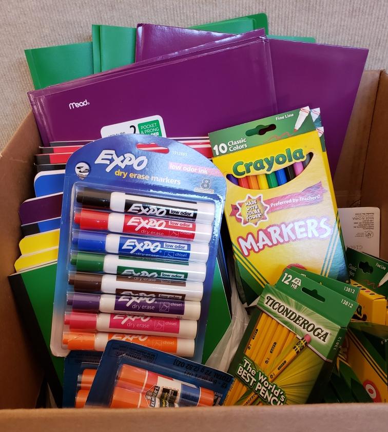 PHOTO: donations for Truscott Elementary
