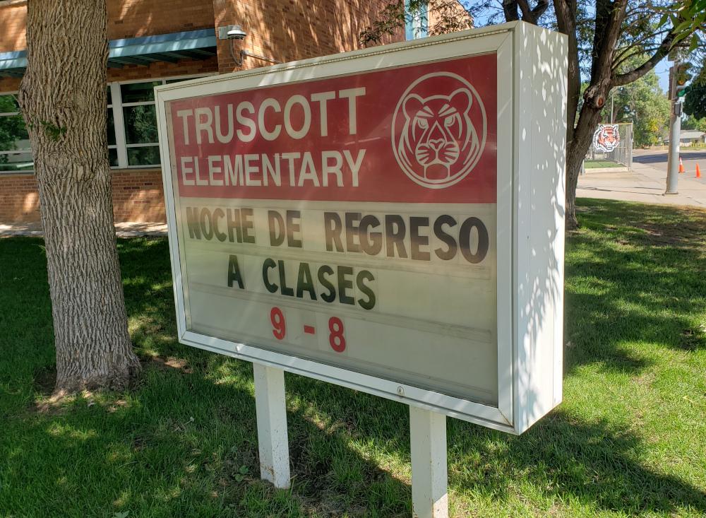 PHOTO: Truscott Elementary billboard