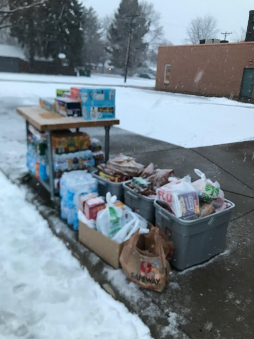 PHOTO: Ash Wednesday food drive
