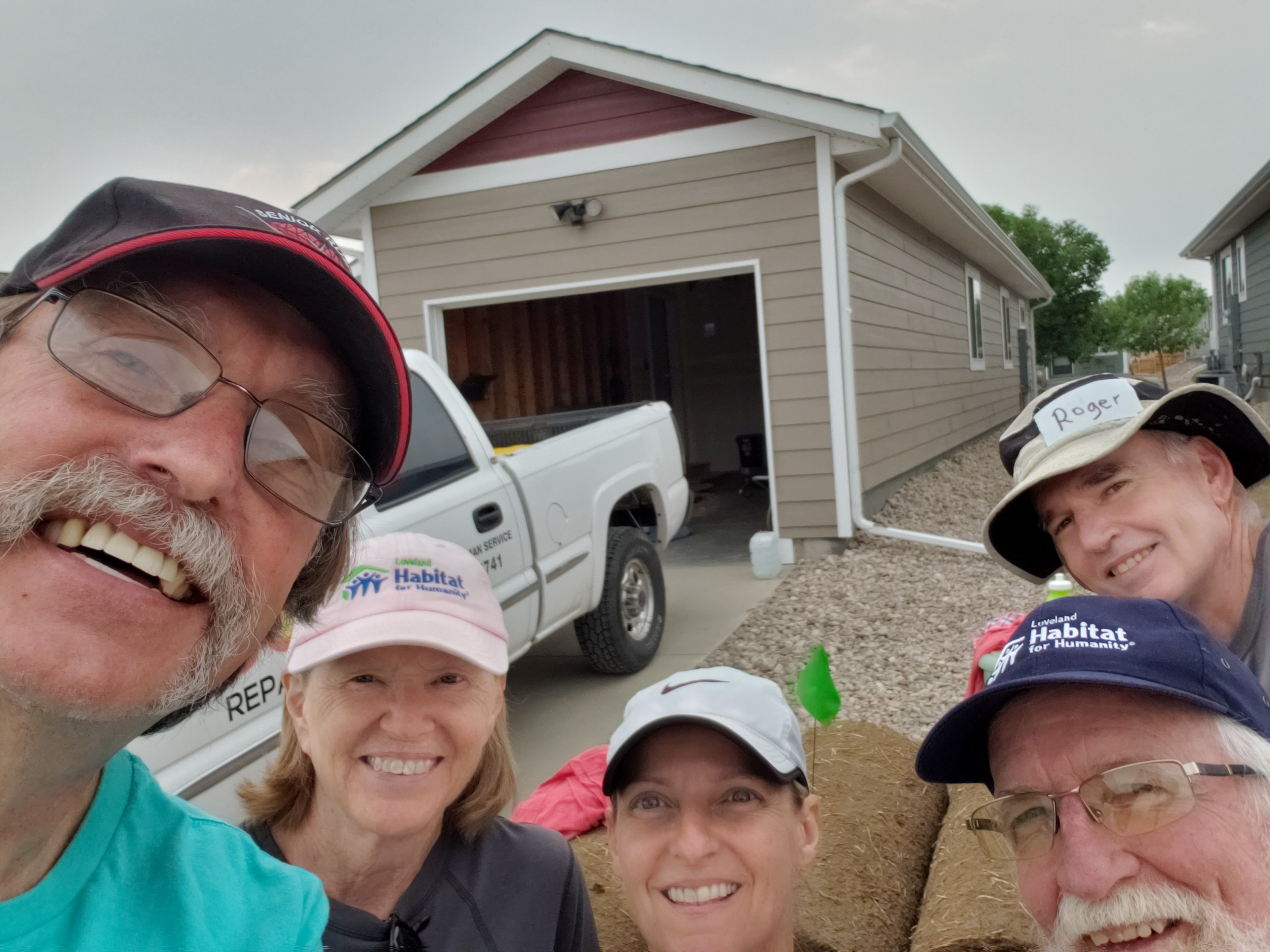 PHOTO: selfie before laying sod