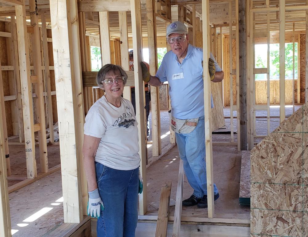 PHOTO: volunteers Barry & Phyllis