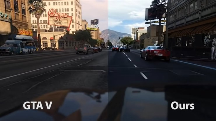 Machine-learning is allowing GTA V to look like real life