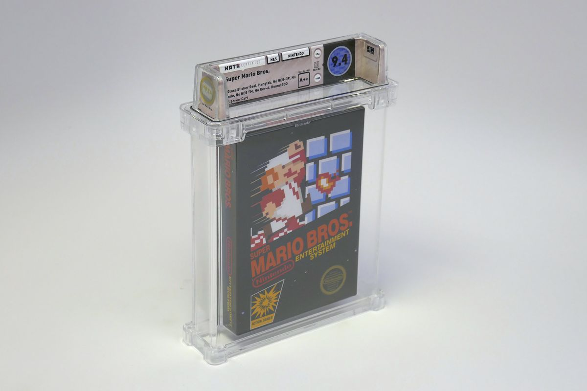 A pristine copy of Super Mario. Bros sold for $660,000 at auction