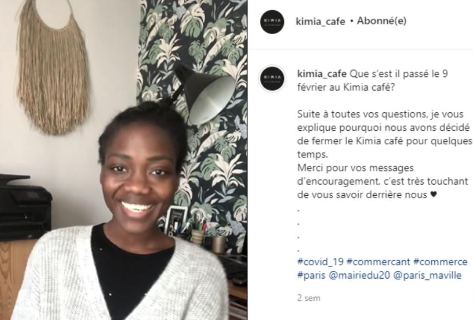 Extrait du compte Instagram du Kimia Café