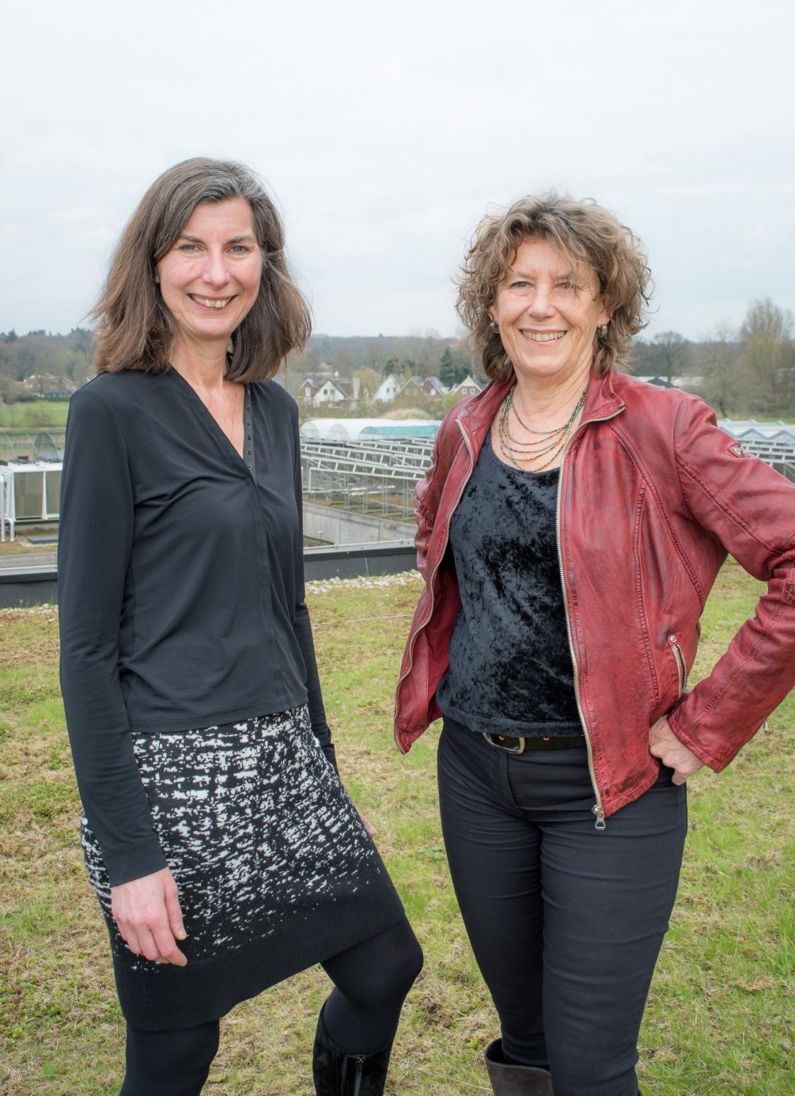Anne-Marie Bor (NextGreen) en Carleen Mesters (Stroom en Onderstroom)
