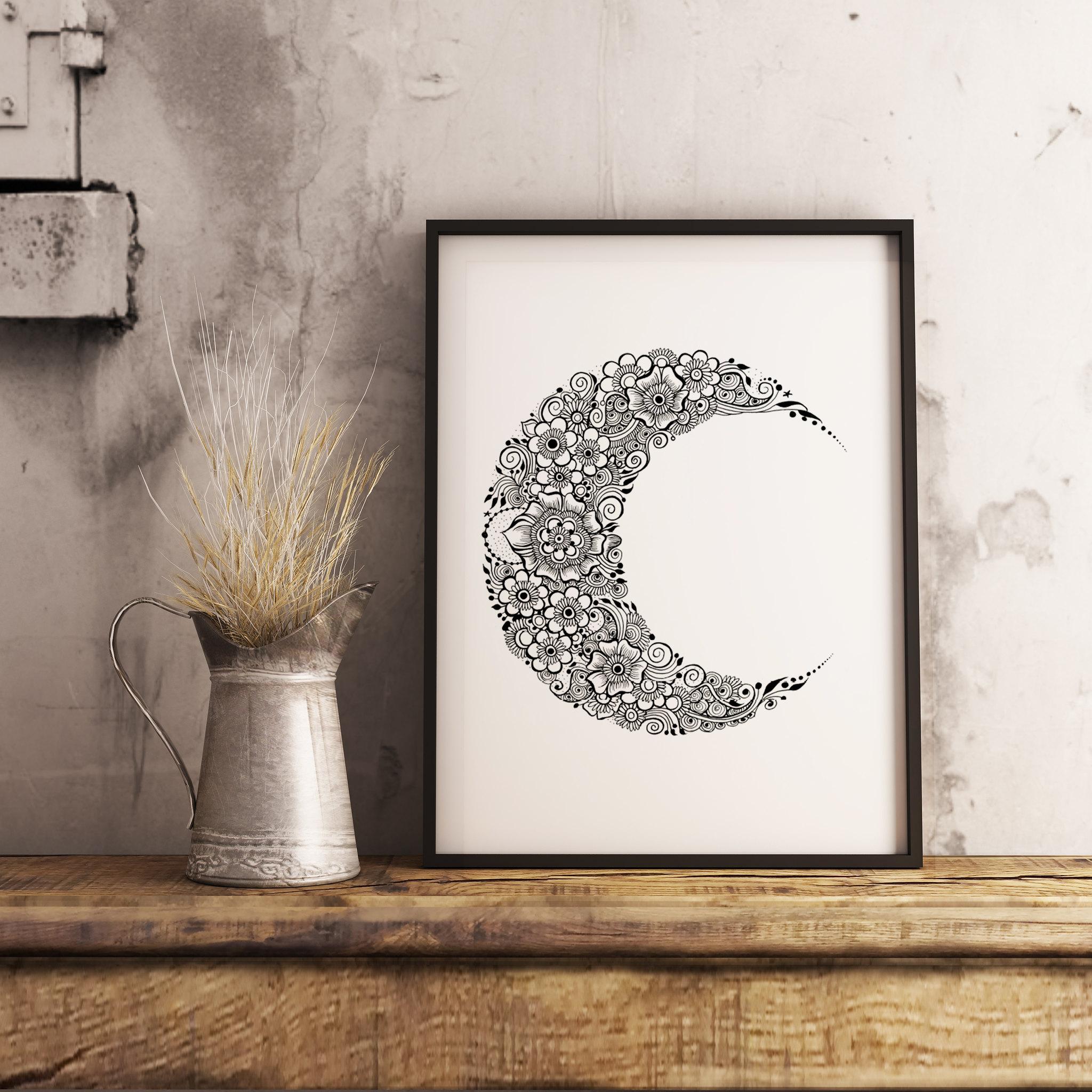 Ramadan Crescent Decor Print