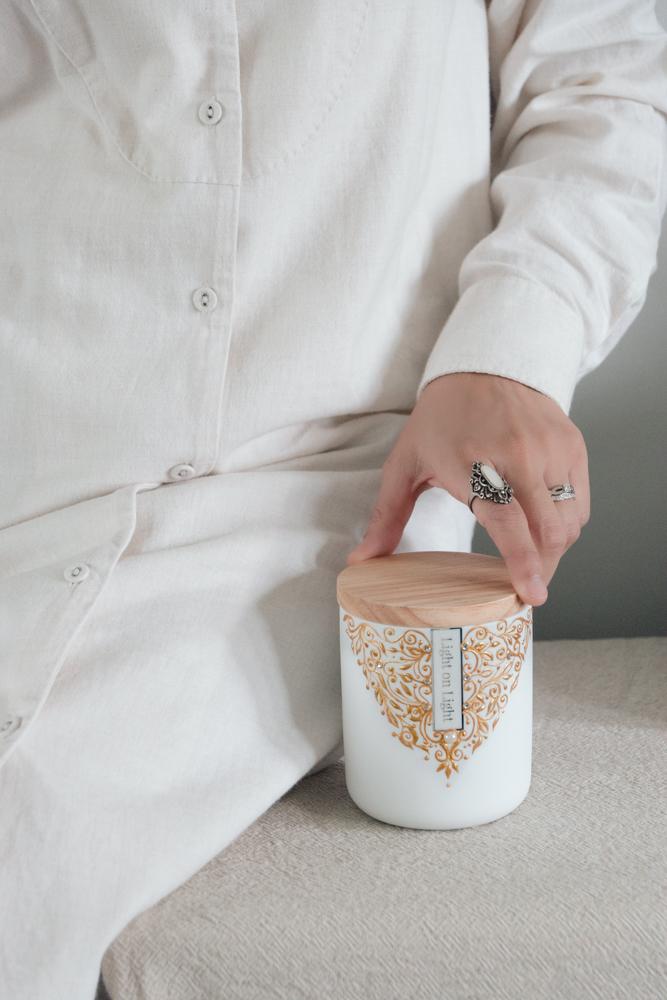 Luxury henna candles