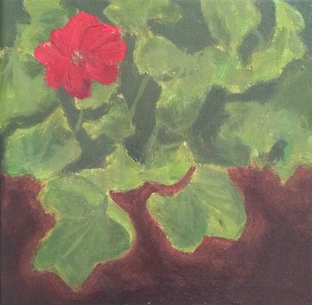 Painting of geranium