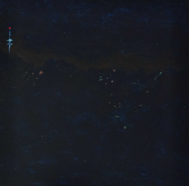 Painting of an Auckland night scene