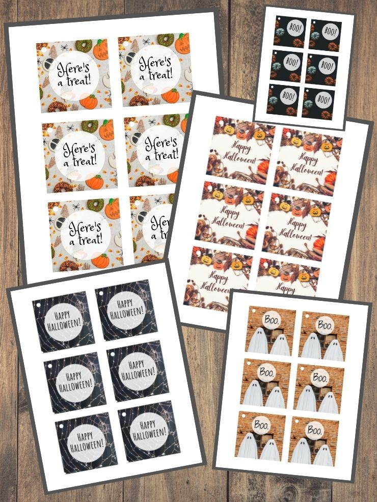 free printable Halloween candy signs
