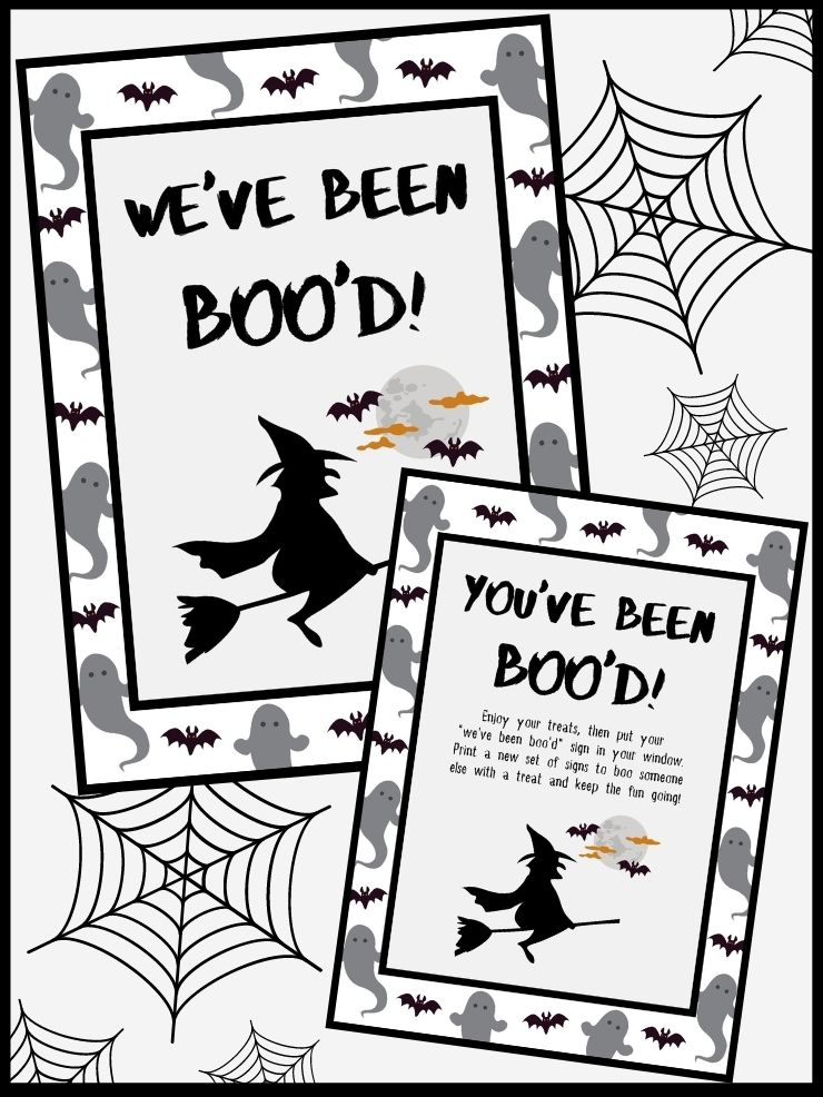free printable you've been boo'd signs