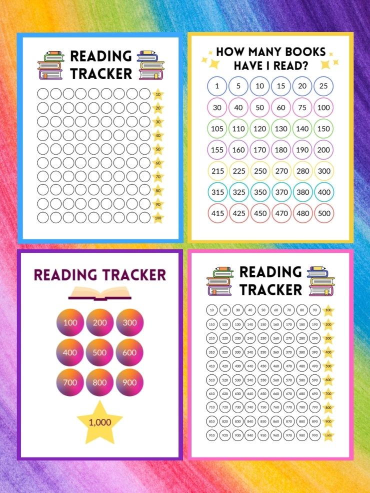 free printable book trackers