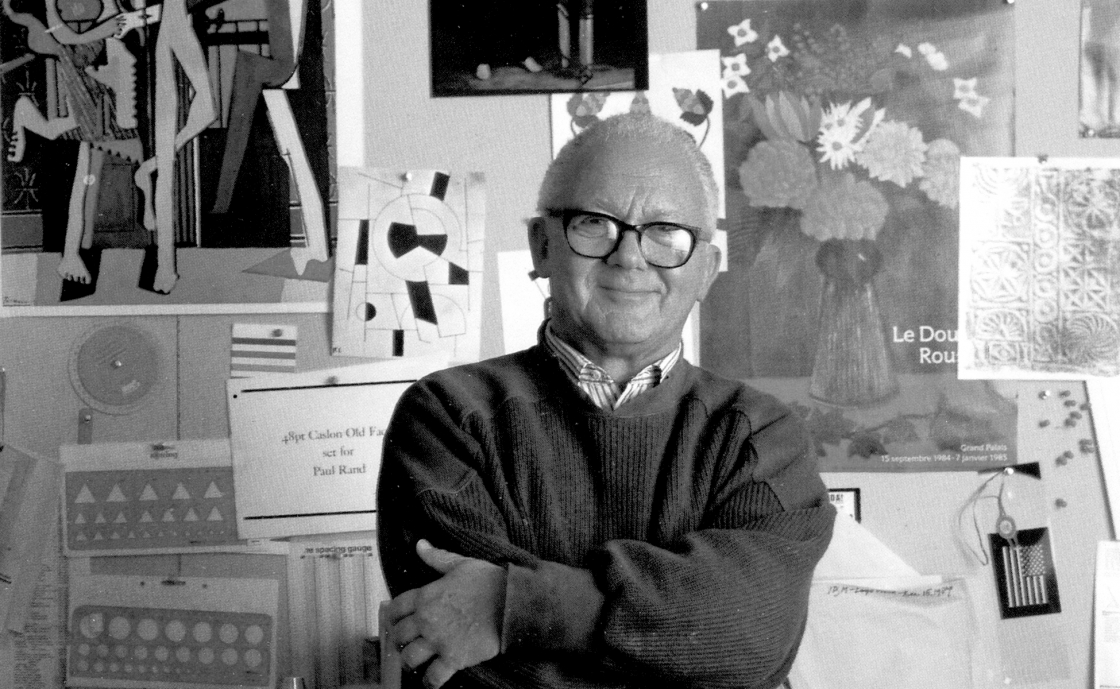 Paul Rand. The graphic design legend who create logos for Esquire, IBM, ABC and UPS.