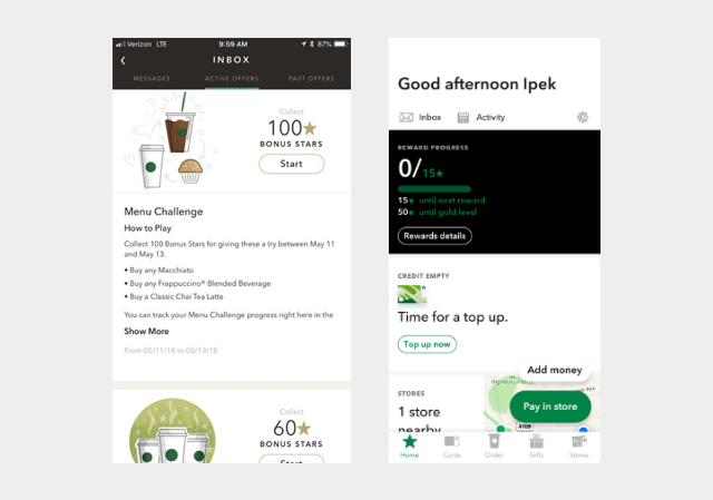 Menu Challenges and Simplicity of Starbucks app