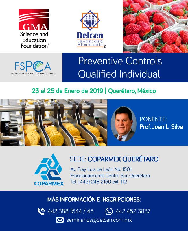 Preventive Control Qualified Individual, 23 al 35 de Ebnero de 2019, Querétaro