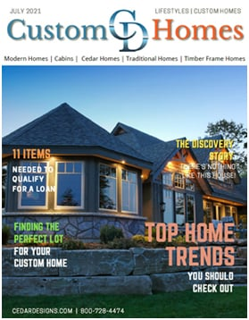 Free Custom Homes Magazine Cedar Homes Designs