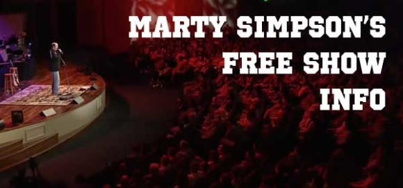 Marty Simpson will do a free show!
