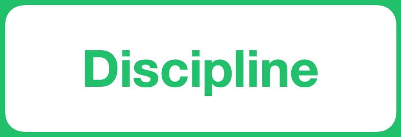 Positive Value - Discipline