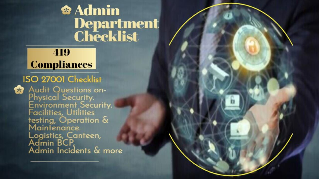 ISO 27001 Requirements - ISO 27001 Admin Department Checklist