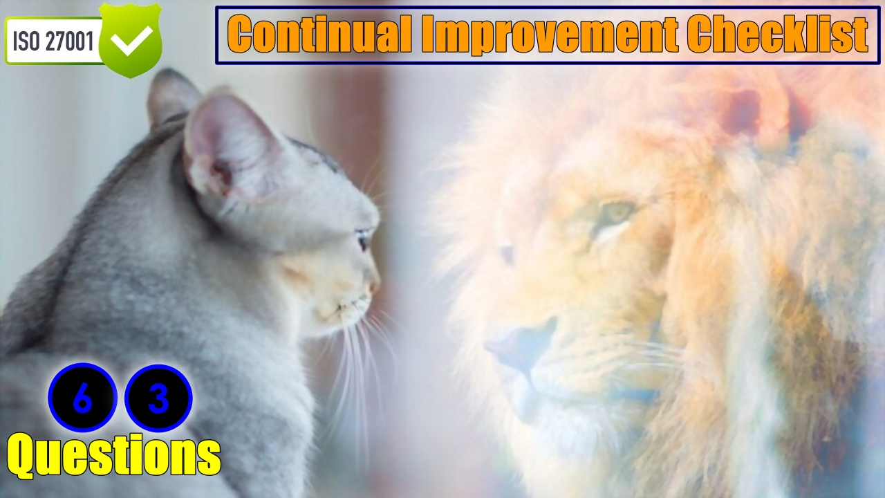 ISO 27001 Requirements - Continual Improvement Checklist - Clause 10.2 Audit