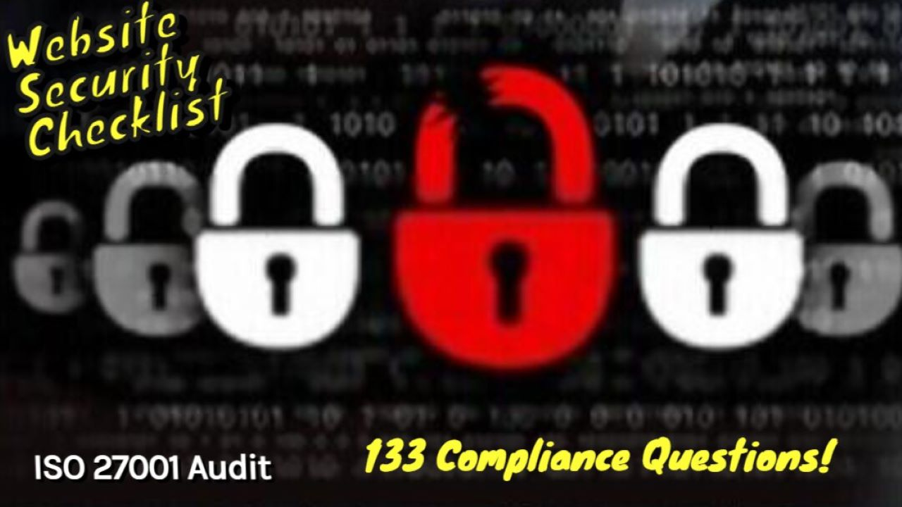 ISO 27001 Requirements - Website Security Audit Checklist