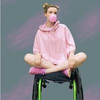 Kate Stanforth wears L.able hoodie