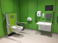 One of five new changing places at Winchester leisure Park