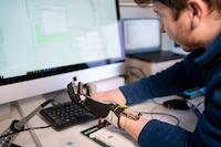 Testing new robotic AI glove