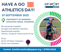 CP sport's have a go athletics day