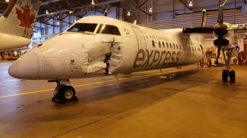 Fuel Truck Runs into Jazz Dash 8-300