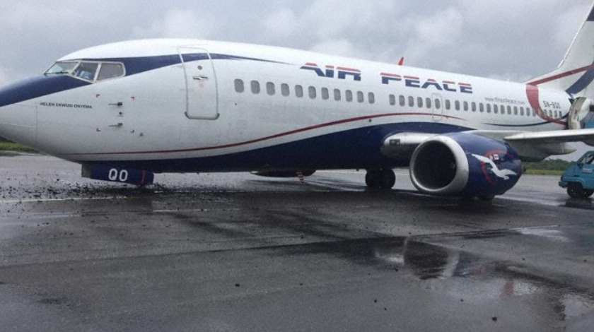 Air Peace Boeing 737 Suffers a Hard Touch Down