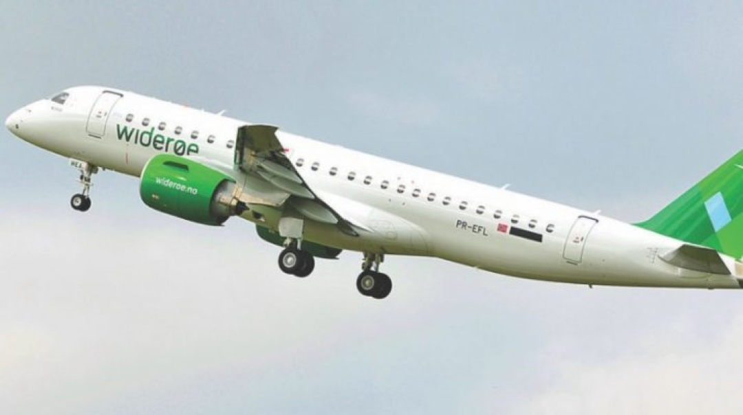Widerøe Completes First Revenue Flight of an Embraer E190-E2