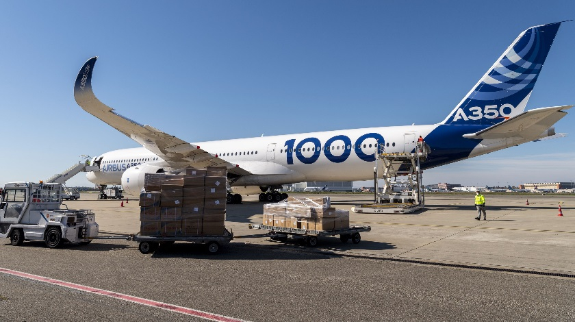 Airbus A350-1000 Test Aircraft Fights Against Coronavirus