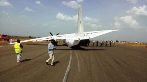 Mega Airlines Antonov AN-26 Faces a Cow Strike During Take-off
