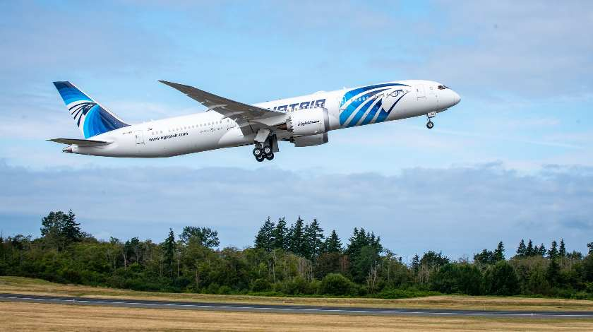 Boeing 787 Dreamliner for EGYPTAIR Flies Sustainable Aviation Fuel