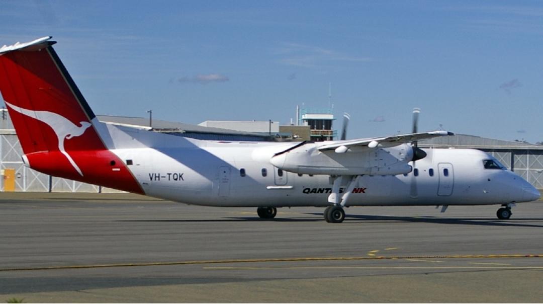Eastern Australia DH8C Encouters Lightning Strike