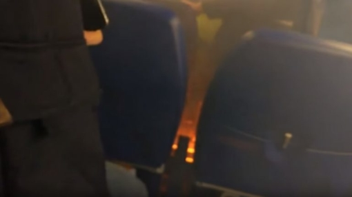 Aeroflot A320 Passenger's Powerbank Catches Fire