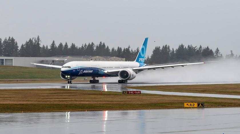Long-Awaited Boeing 777X in the Sky on Its Maiden Flight