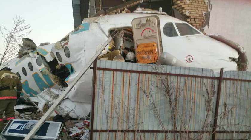 Bek Air Fokker 100 with Over 90 on Board Comes Down