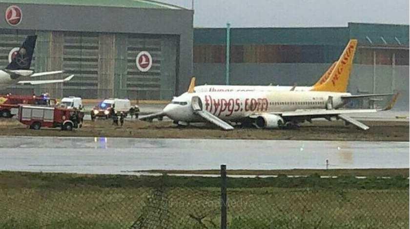 Pegasus Airlines Boeing 737 Skids Off Runway Halting Airport Operations