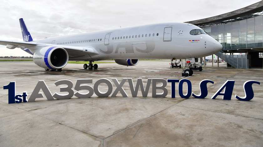 Scandinavia's SAS Takes Delivery of Its First Airbus A350 XWB