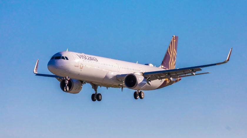First Airbus A321neo with Advanced Cabin Reaches Vistara