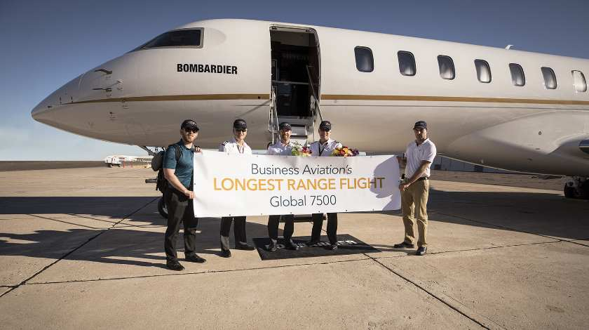 Bombardier Global 7500 Aircraft Makes History Again