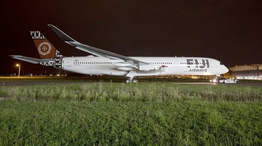 First Fiji Airways Airbus A350 XWB Already Features Airline's Livery