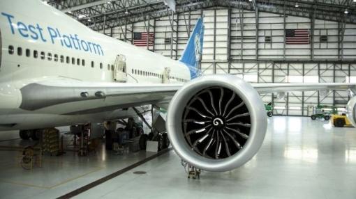 GE9X Engine Goes Airborne