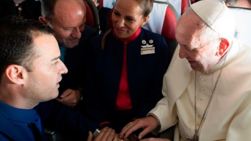 Pope Francis Marries LATAM Cabin Crew Couple During a Fligh