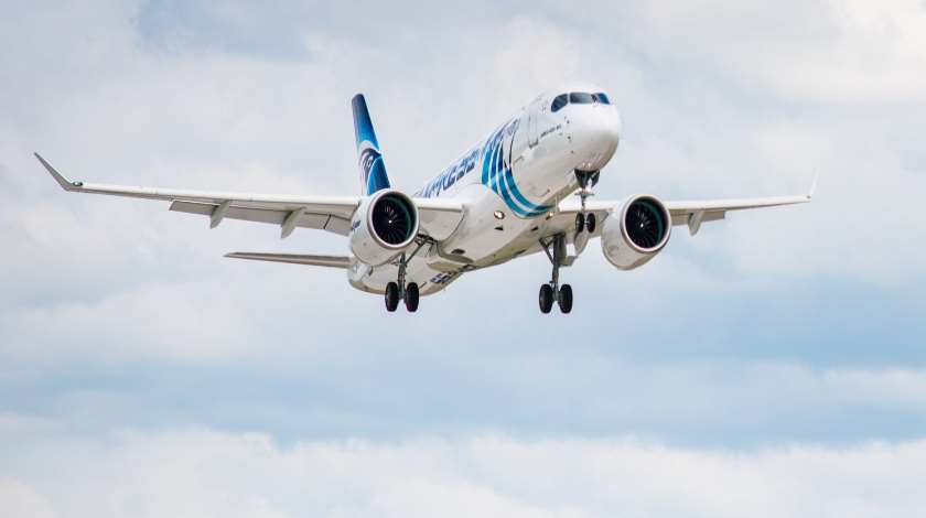First EgyptAir Airbus A220-300 Completes Its Maiden Flight