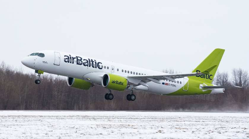100th Airbus A220 in a Refreshed airBaltic Livery