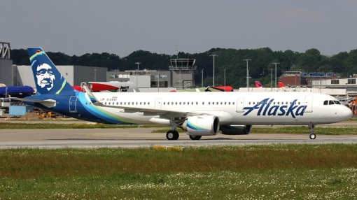 Alaska Airlines Airbus A321 Engine Shuts Down in Flight