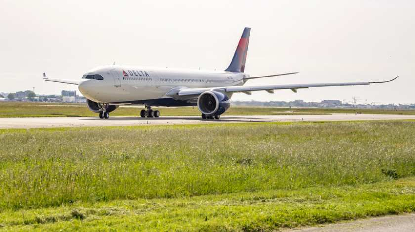 Delta's First Airbus A330-900neo Takes Off Over France